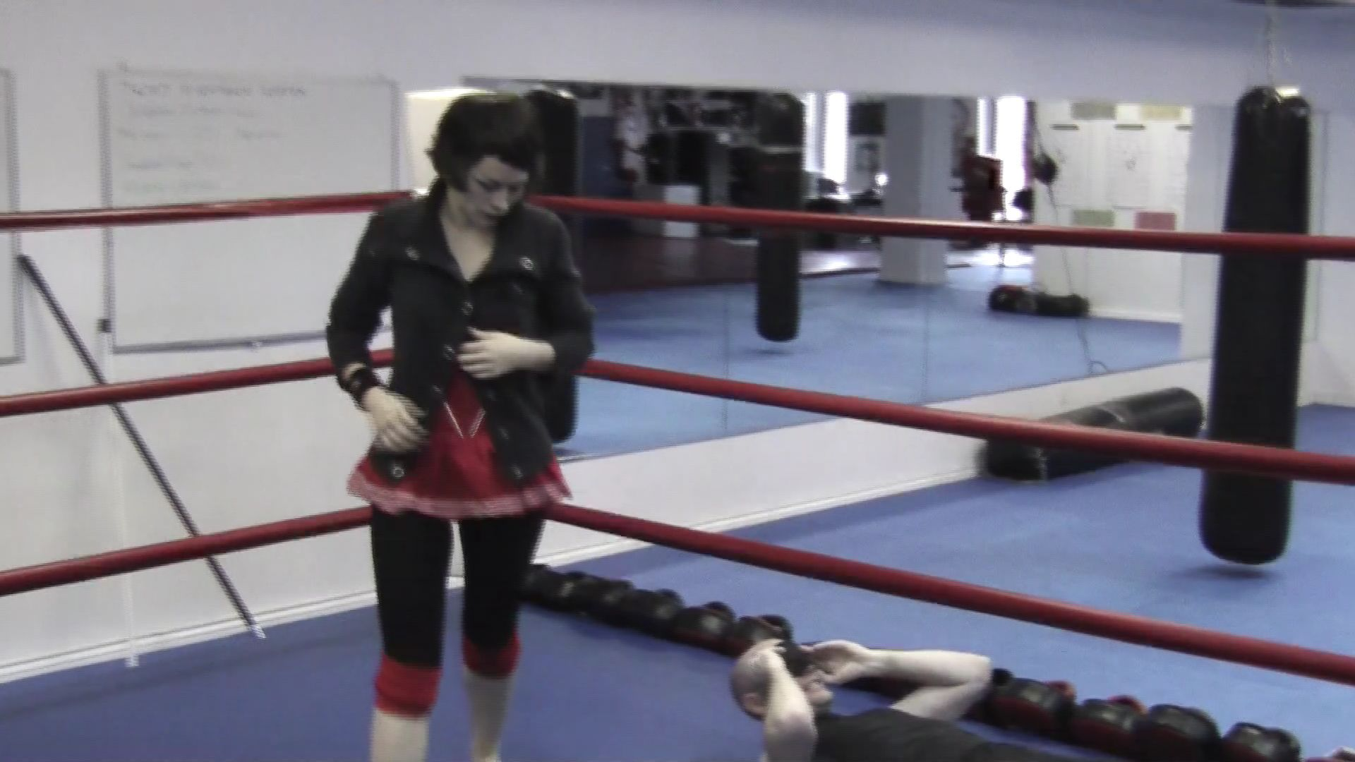 vagina kick in women wrestling